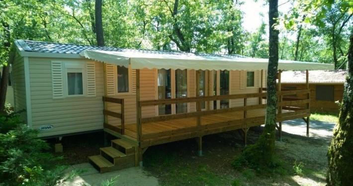 Camping 3 étoiles dordogne - Cottage Détente 25m² + Terrasse couverte +Télévision